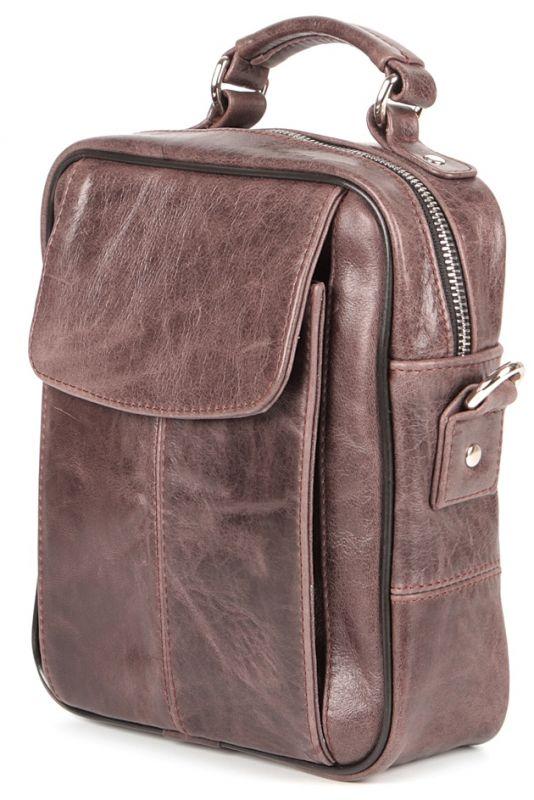 Сумка SHVIGEL 00874 кожаная коричневая