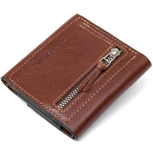 Оригинальное портмоне для мужчин GRANDE PELLE 11464 коричневый
