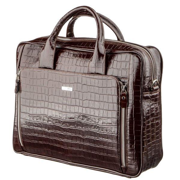 Портфель мужской KARYA 17363 кожаный коричневый
