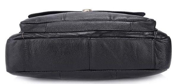 Портфель мужской кожаный с замком Vintage 14801 черная