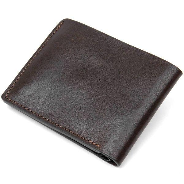 Портмоне из натуральной кожи для мужчин GRANDE PELLE 11463 коричневый