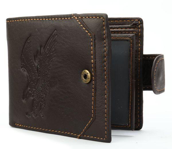 Портмоне мужское с орлом 20231 Vintage коричневое