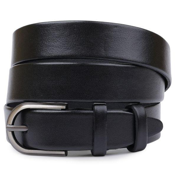 Практичный кожаный ремень Vintage 20794 черный