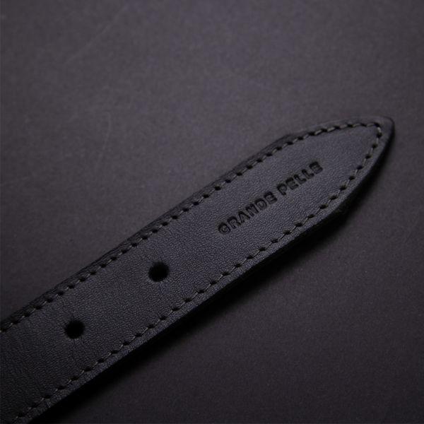 Практичный кожаный женский ремень GRANDE PELLE 11378 черный