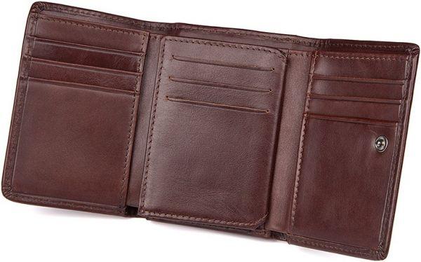 Кошелек Vintage 14469 кожаный коричневый