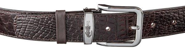Ремень CROCODILE LEATHER 18603 из натуральной кожи крокодила коричневый