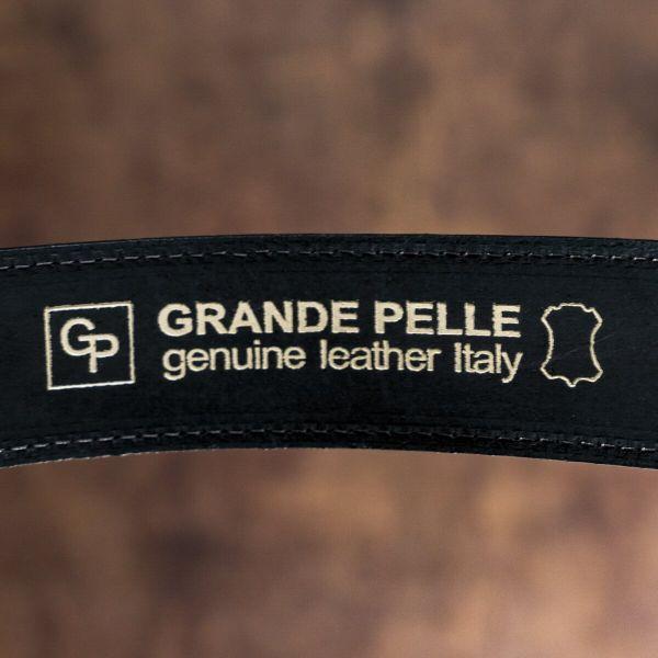 Ремень мужской из натуральной кожи GRANDE PELLE 00241 черный