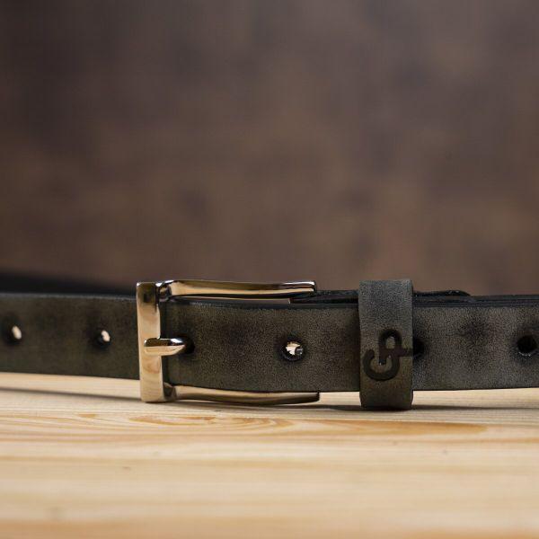 Ремень женский кожаный GRANDE PELLE 11234 серый