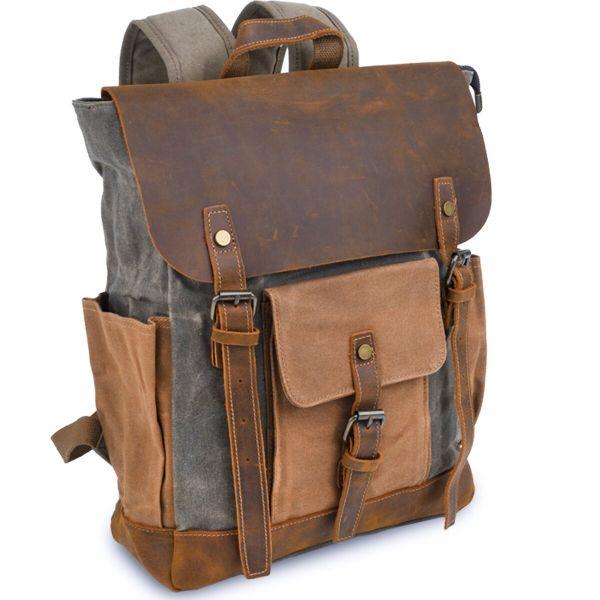 Рюкзак комбинированный дорожный Vintage 20113 серый