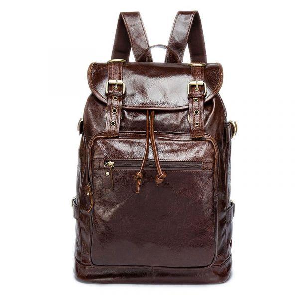 Рюкзак кожаный Vintage 14843 коричневый