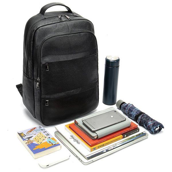 Рюкзак кожаный Vintage 20036 черный