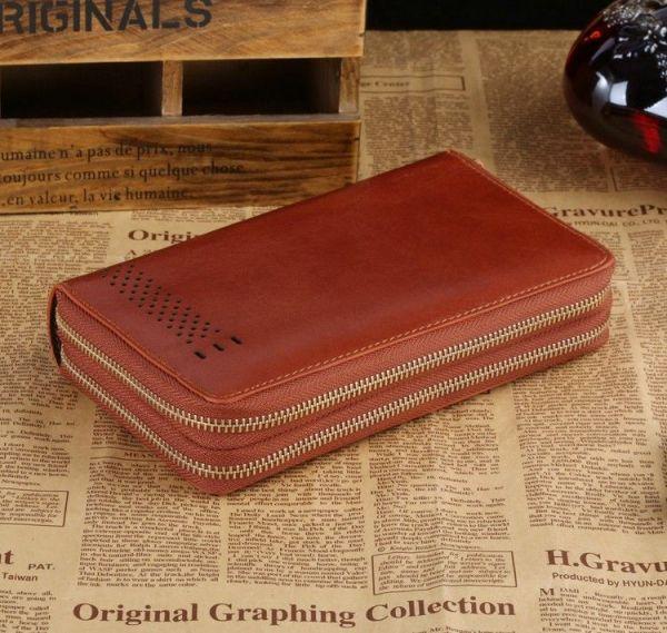 Мужской клатч Vintage 14195 коричневый