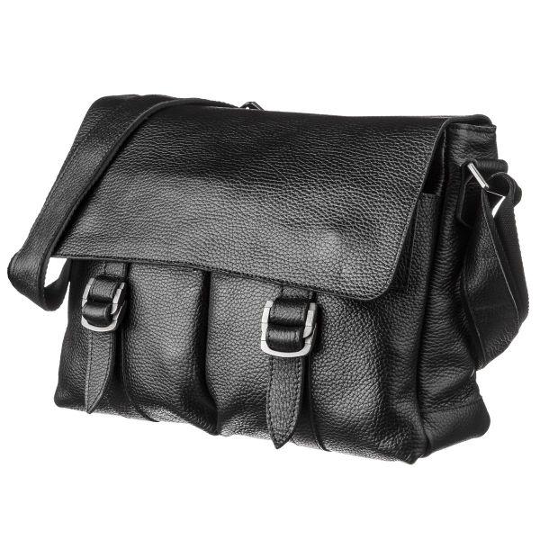 Солидный кожаный мужской портфель флотар 13970 Shvigel  черный