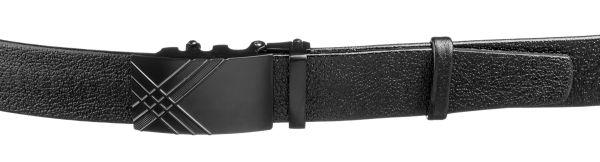 Современный ремень SHVIGEL 17350 с пряжкой-автомат черный