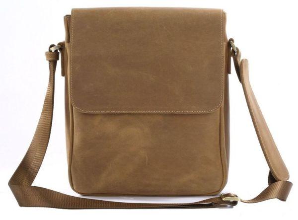 Сумка мужская Vintage 14184 через плечо коричневая