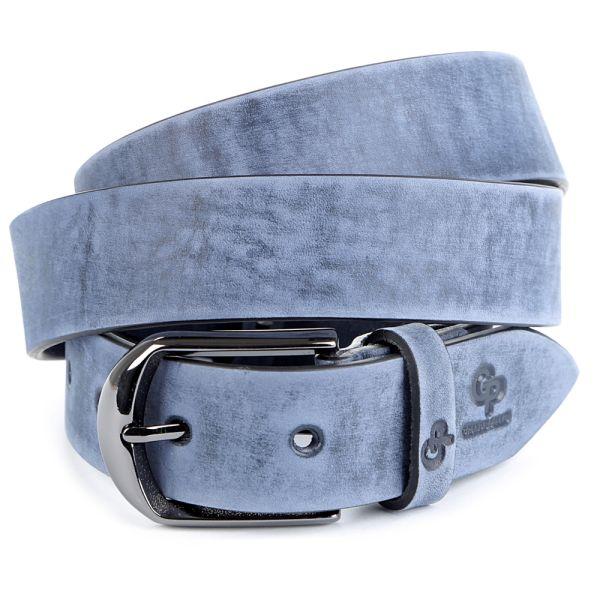 Ремень GRANDE PELLE 00972 кожа синий