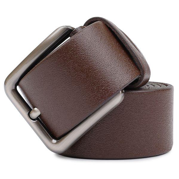 Стильный ремень из натуральной кожи Vintage 20736 коричневый
