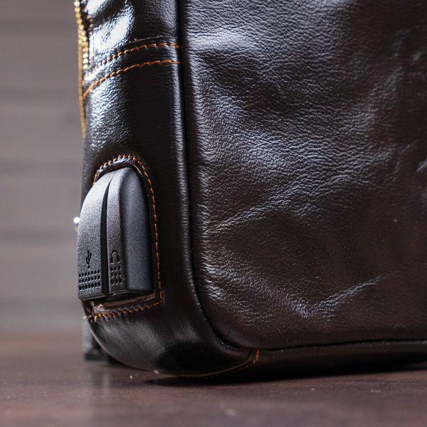 Сумка через плечо мужская Vintage 14838 коричневая