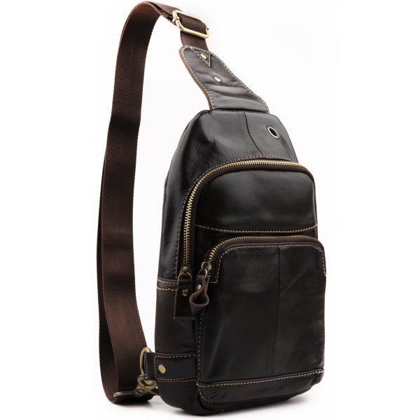 Сумка через плечо мужская Vintage 14858 коричневая