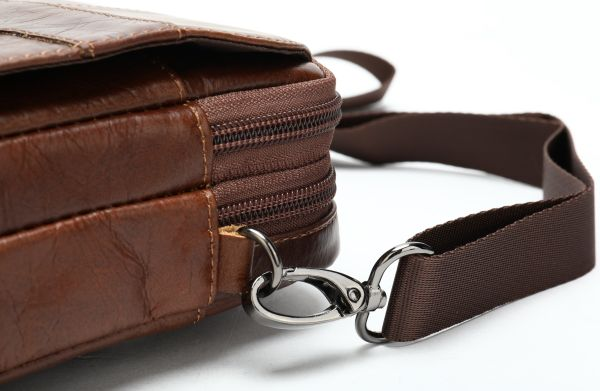 Сумка через плечо мужская Vintage 14898 коричневая