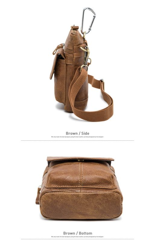 Сумка через плечо мужская Vintage 14899 серо-коричневая