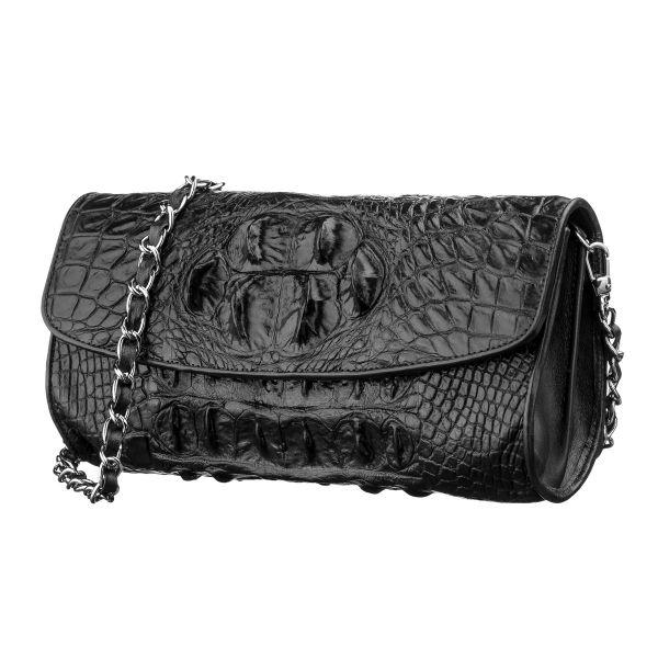 Сумка клатч CROCODILE LEATHER 18243 из натуральной кожи крокодила коричневая