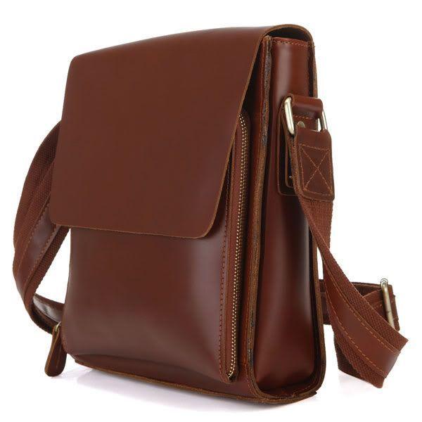 Сумка мужская Vintage 14124 кожа коричневый