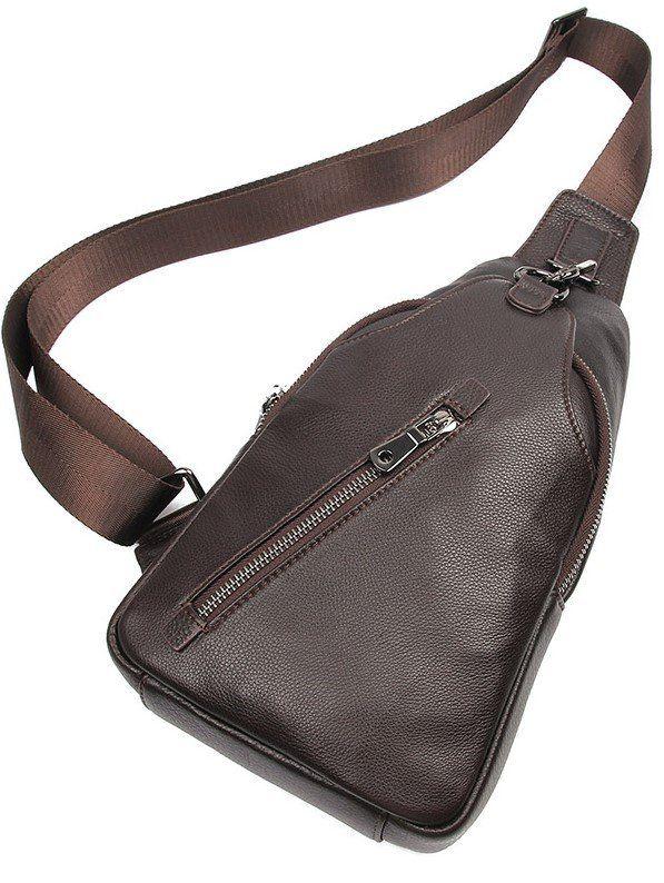 Сумка мужская через плечо Vintage 14952 коричневая