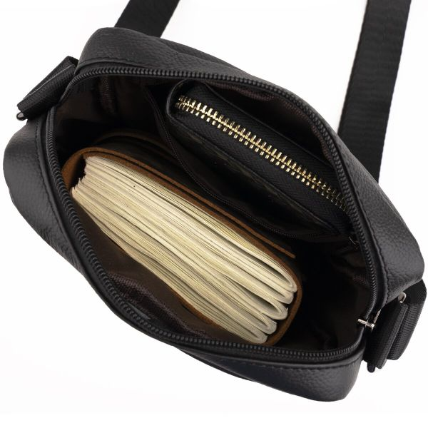 Сумка мужская флотар Vintage 14743 черная