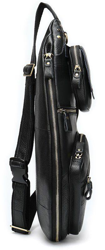 Сумка мужская «гитара» через плечо Vintage 20010 черная
