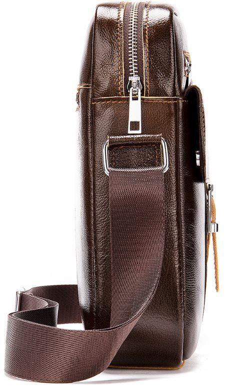 Сумка мужская кожаная Vintage 14834 коричневая