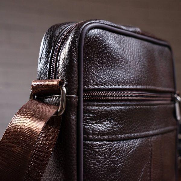 Сумка мужская кожаная Vintage 14987 коричневая