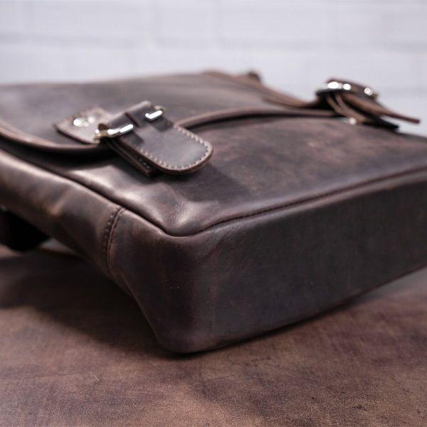 Сумка мужская SHVIGEL 11129 из винтажной кожи коричневая