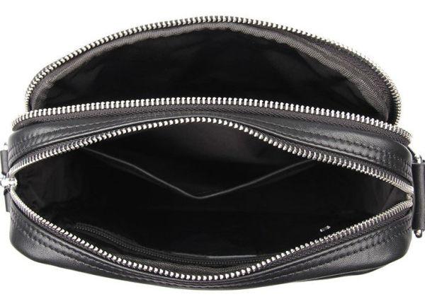 Сумка мужская в гладкой коже Vintage 14978 черная