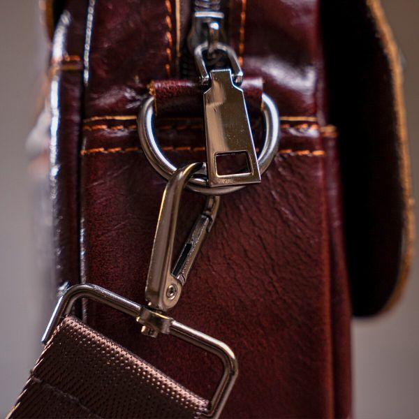 Сумка мужская Vintage 14622 кожаная коричневая