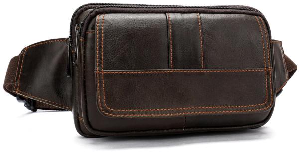 Сумка на пояс Vintage 14726 коричневая