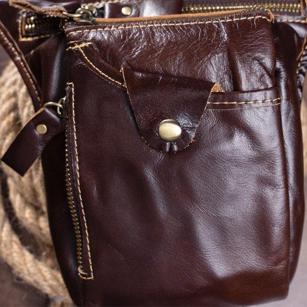 Сумка на пояс Vintage 14939 коричневая