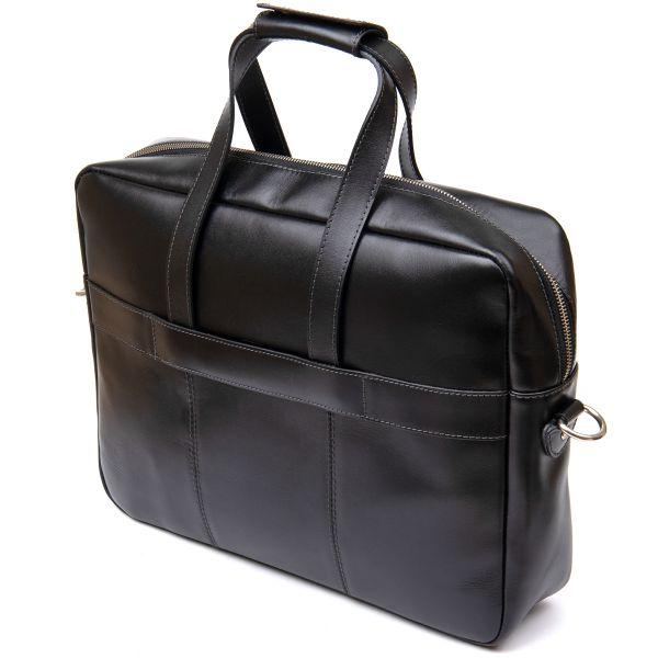 Сумка-портфель из натуральной кожи GRANDE PELLE 11442 черный