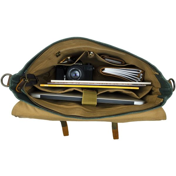 Сумка-портфель текстильная Vintage 20061 серая