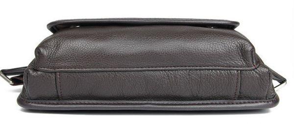 Сумка поясная зернистая кожаная Vintage 14951 коричневая