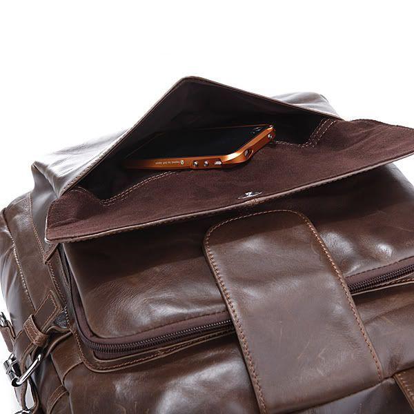 Сумка рюкзак кожаная 14150 коричневая