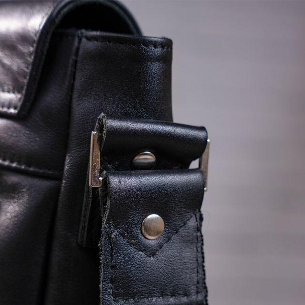 Сумка SHVIGEL 00858 кожаная черная