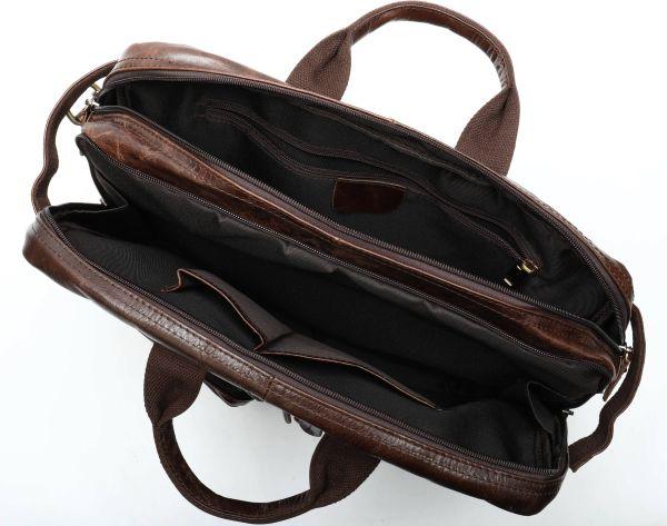Сумка – трансформер кожаная Vintage 14844 коричневая