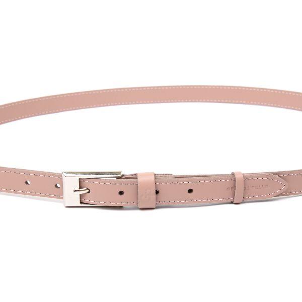 Тонкий женский кожаный ремень GRANDE PELLE 11448 розовый