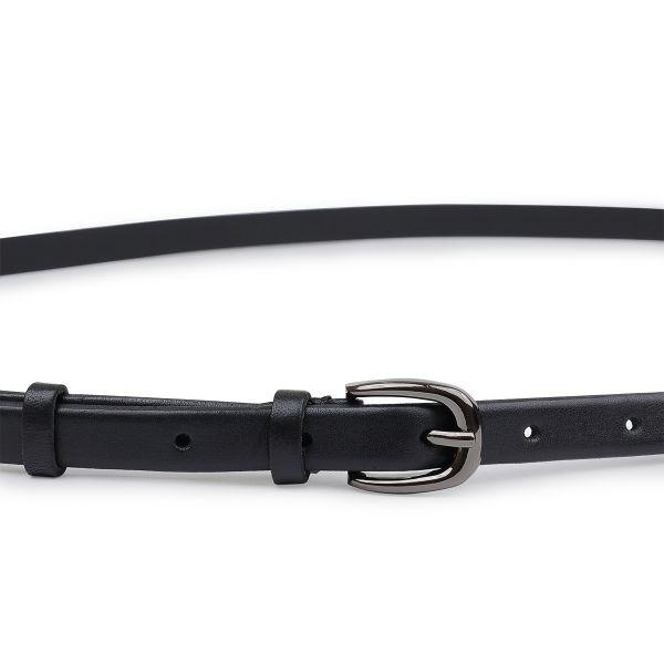 Универсальный кожаный женский ремень Vintage 20759 черный