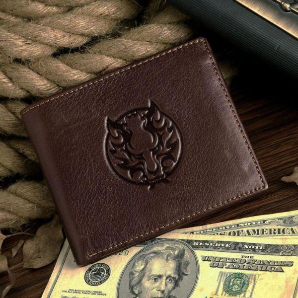 Кошелек мужской Vintage 14172 коричневый
