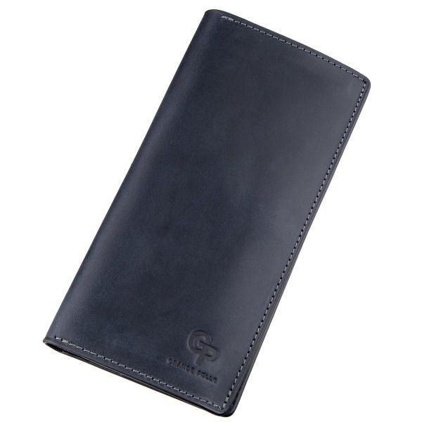 Вертикальный бумажник унисекс на магните GRANDE PELLE 11211 синий