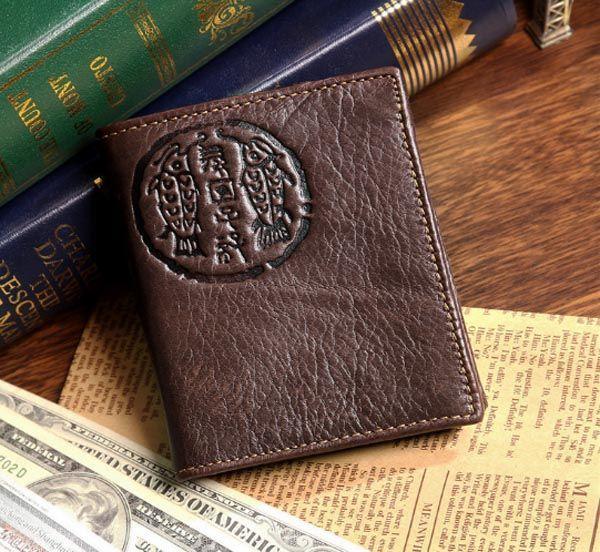 Кошелек мужской Vintage 14181 коричневый