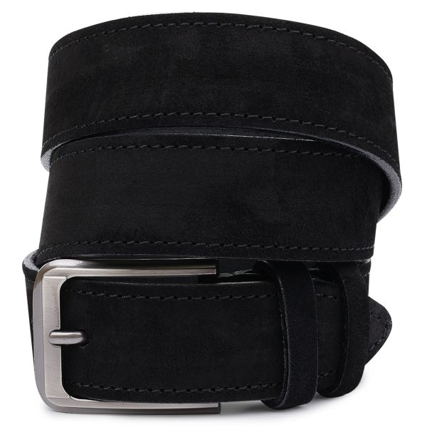 Замшевый мужской ремень Vintage 20733 черный