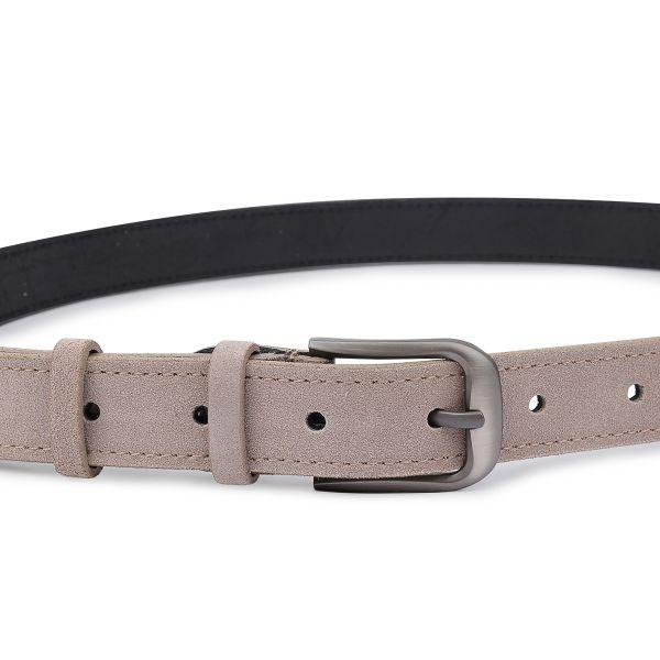 Замшевый ремень для женщин Vintage 20780 серый